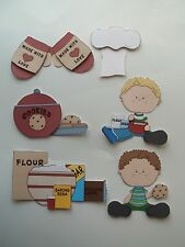 3D - U Pick - Chef Hat Mitt Girl Boy Bake Cook Scrapbook Card Embellishment 589