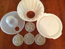 Tupperware 7 Piece 8 Cup Jello Salad Ice Mold w/ 4 Interchangable Designs