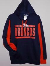 NWT DENVER BRONCOS MENS SIZES NAVY/ORANGE HOODIE SWEATSHIRT JACKET HOODED
