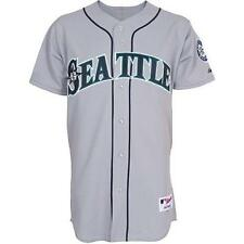$200 NWT SEATTLE MARINERS EXTENDED SIZES MAJESTIC AUTHENTIC ON FIELD GRAY JERSEY