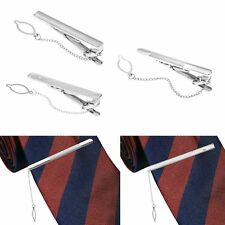 NEWEST Men Silver Tie Clip Pin Stainless Steel Fashion Clasp Bar Office Wedding