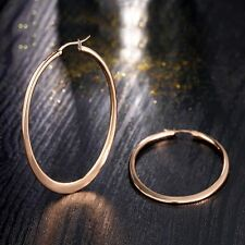 1 Pair Fashion Women Elegant Gold Plated Ear Stud Cocktail Party Hoop Earrings