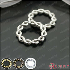 15MM 20MM Zinc Alloy Twisted Rings Connector Chamrs Findings Accessories 4338