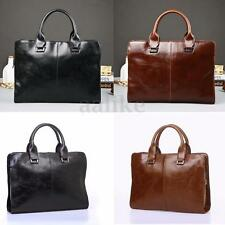 Men Leather Shoulder Bag Handbag Business Briefcase Messenger Laptop Satchel New