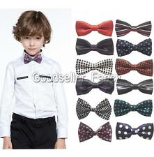 Lots Novelty Satin Men Boy Kid Bowtie Pre-Tied Wedding Party Bow Ties Necktie