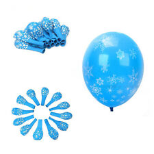 12PCS Christmas Latex Balloons Party Supplies Decorations Frozen Snowflake Hot