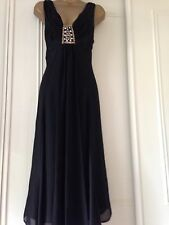 Chesca Desingner Dress John Lewis Black Cocktail Size Uk 12-14