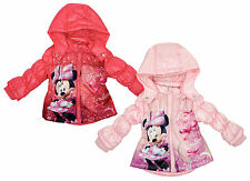 Girls Coat Hooded Jacket Baby Toddler Minnie Mouse Polka Disney 6 to 23 Months