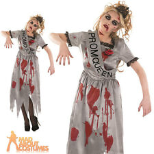 Adult Zombie Prom Queen Costume Halloween Horror Ladies Fancy Dress Outfit New