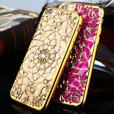 Luxury Crystal Bling Diamond Soft Rubber Back Case Cover For iPhone 6 6s Plus