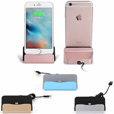 Sync Data USB Cable Charger Dock Stand Charging Cradle For iPhone SE 6 6S Plus