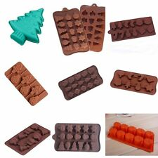 New Xmas Silicone Cake Decorating Mould Candy Cookies Chocolate Soap Baking Mold