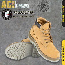 Rockrooster Leather Soft Comfort Steel Toe Work Safety Hiking Boots Shoes