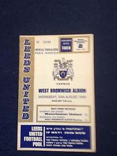 1966/67  Leeds United Football Programmes -  Various Fixtures