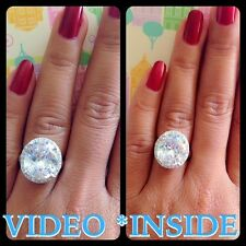 5.8 CT Round cut Diamond Solitaire Engagement Ring Solid In Sterling Silver