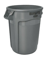 Rubbermaid Comm Prod 2632-00-GRAY Brute Trash Can, Gray, 32-Gal.