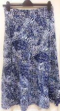 Lovely blue and white patterned skirt size 16 elasticated waist Penny Plain