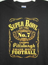 Pittsburgh Six Time Champs T-shirt Pittsburgh Steelers Size S-5XL Black & Gold