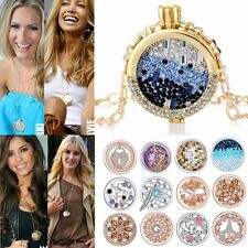 MY Coin Mi Crystal CZ Disc Locket For DIY Woman Pendant Chain Necklace Jewellery