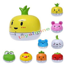 60 Minutes Kitchen Egg Timer Cute Vegetables Cooking Mechanical Home Decor New