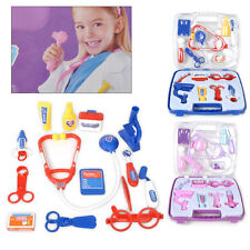 1 Set Pretend Nurse Doctor Medical Toy Kid Baby Role Play Education Carry Case