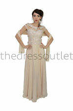 Formal Dresses Long Beaded Short Sleeve Lace Applique Chiffon Sequins Party Gown