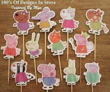 12x Peppa Pig Cupcake Toppers Cake Decorations Birthday Childrens Novelty Picks