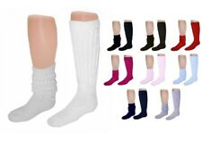 12 Pairs Thick Warm 80s Style Slouch Scrunch Socks Made in USA (Select Color)