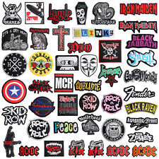 AU DIY Iron on Patch Sew Emblem Badge Music Band Heavy Metal Rocker Retro New