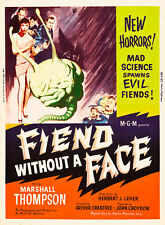 Fiend Without a Face 1958 Vintage Movie Poster