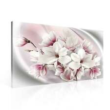 Pattern Floral Pink White  CANVAS PRINT ART PICTURE (PP2409DK)