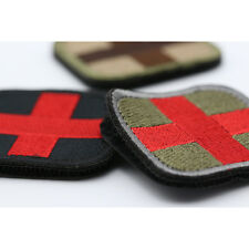 Hot Sale Red Cross Medical 3D Embroidery Patch Armband Velcro Props Fabric Patch