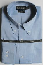 Ralph Lauren LRL Pinpoint Oxford Dress Shirt Turquoise Blue NWT $69 No Iron
