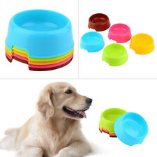 Pet Dog Cat Puppy Exquisite Plastic Food Feeding Water Dish Bowl Feeder CHI