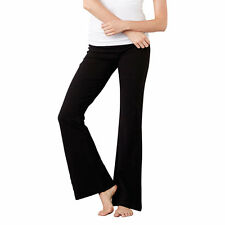 Bella Canvas BE012 Womens Cotton Spandex Fitness Trousers Ladies Flared Leg Pant