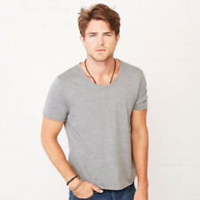 Bella+Canvas BE117 Mens Short Sleeves Wide Neck T-shirt Polycotton Slim Fit Tops