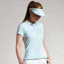 Glenmuir Women's Performance Pique Sports Stretch Polo Shirt Ladies Golf Top New