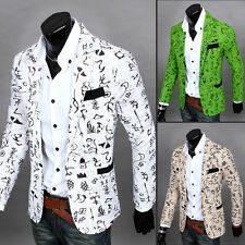 Hot Stylish Mens One Button Casual Suit Slim Fit Blazer Coat Jacket Outwear Top
