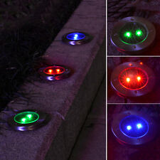 Solar Powered LED Buried In Ground Ground Light Garden Outdoor Pathway Path Lamp