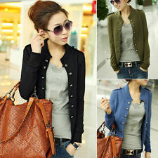 Korean Women's Slim Fit Casual Double Breasted Jacket Coat Tops Fashion Short