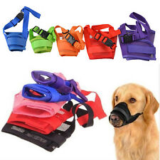 Cute Nylon Adjustable Pet Dog Grooming Muzzle Mouth Mask Cover No Bite Bark