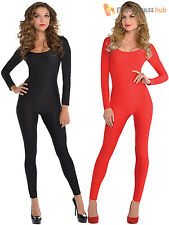 Ladies Sexy Catsuit Adult Halloween Fancy Dress Cat Women Jumpsuit Witch Outfit