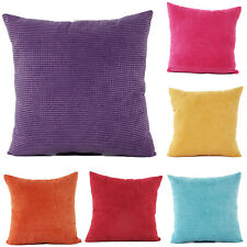 Fashion Velvet Checks Throw Pillow Cases Cushion Covers Home Car Décor 18'' 24''