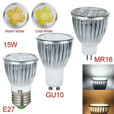 1/5/10PCS Dimable ED Spot Light Lamps E27 GU10 MR16 3W 12W Cool/White Bulb Hot