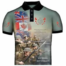 WW1 FIRST WORLD WAR BATTLE OF THE SOMME POLO SHIRT PRINTED FRONT AND BACK