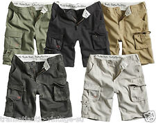 SURPLUS TROOPER CARGO SHORTS MENS MILITARY VINTAGE COMBAT ARMY 100%WASHED COTTON