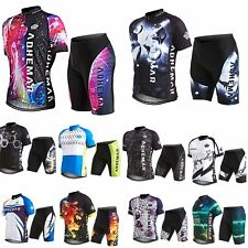 Fashion Short sleeve Shirts T Lady Men's Team Cycling Jersey Set shorts Clothes