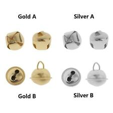 100Pcs Metal Jingle Bells Pendant Charm for Jewelry Making Xmas Gift Decoration