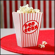POPCORN BOXES CIRCUS SLEEPOVER PARTY SUPPLIES BIRTHDAY MOVIE NIGHT RED 8/10 pk
