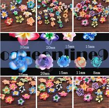 Wholesale Mixed Polymer Fimo Clay Lily Flowers Loose Spacer Bead 15/20/30